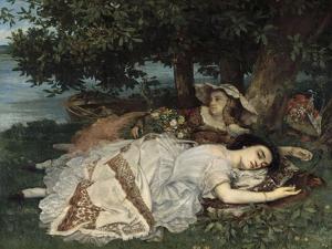 Les demoiselles du bord de la Seine by Gustave Courbet