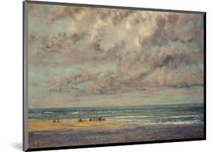 Marine - Les Equilleurs by Gustave Courbet