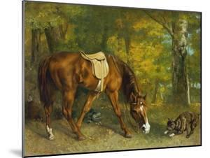 Pferd Im Walde, 1863 by Gustave Courbet
