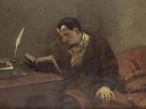 Portrait de Baudelaire by Gustave Courbet