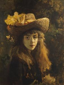 Portrait of Girl by Gustave Courbet