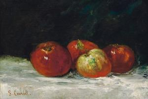 Red Apples, 1872 by Gustave Courbet