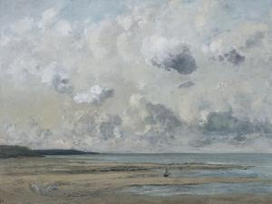Rivage de Normandie (plage de Trouville - Deauville) by Gustave Courbet