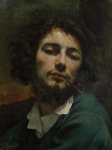 Self Portrait Or, the Man with a Pipe, circa 1846 by Gustave Courbet
