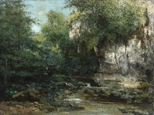 The Banks of a Stream, 1873 by Gustave Courbet