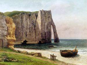 The Cliffs at Etretat, 1869 by Gustave Courbet