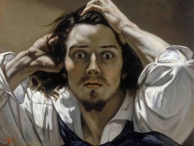 The Desperate Man (Self-Portrai) by Gustave Courbet