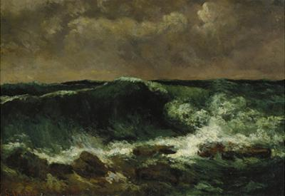 The Wave, about 1870 by Gustave Courbet