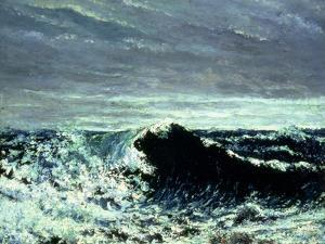 The Wave, C.1869 by Gustave Courbet