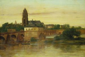 View of Frankfurt Am Main from Sachsenhausen, with the Old Bridge, 1858 by Gustave Courbet