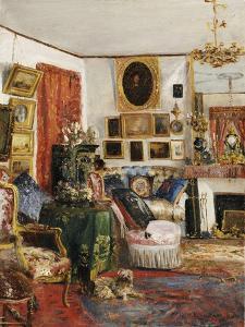 Interieur eines Wohnzimmers. 1882 by Gustave de Launay