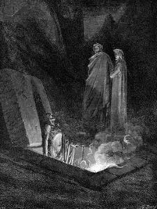 Dante and Virgil Looking into the Inferno, 1863 by Gustave Dor?