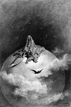 Illustration from Edgar Allan Poe's 'The Raven', 1882