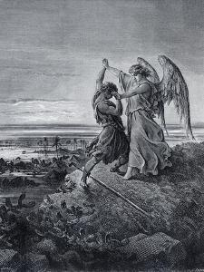 Jacob Wrestling with the Angel by Gustave Dor?