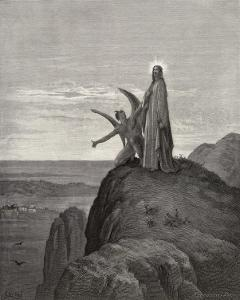 Jesus is Tempted by Satan in the Wilderness by Gustave Dor?