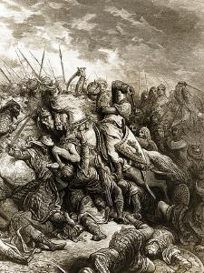 Richard I and Saladin in Battle of Acre, 1191 by Gustave Dor?