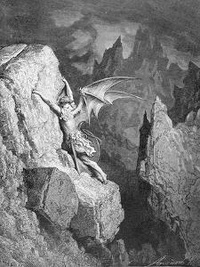 Satan's Flight Through Chaos, from 'Paradise Lost' by John Milton (1608-74) Engraved by Adolphe… by Gustave Dor?
