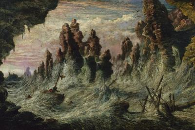 Shipwrecked Boats Battling the Storm by Gustave Dor?