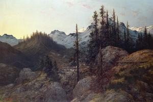 Sunrise in the Alps by Gustave Dor?