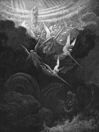 The Archangel Michael and His Angels Fighting the Dragon, 1865-1866 by Gustave Dor?