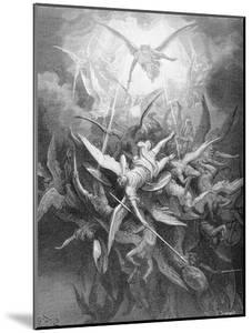 The Fall of the Rebel Angels, from Book I of 'Paradise Lost' by John Milton (1608-74) C.1868 by Gustave Dor?