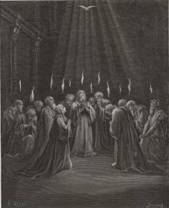 The Holy Spirit Descends on the Apostles and Their Associates with the Gift of Tongues by Gustave Dor?