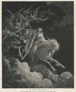 The Vision of Death on a Pale Horse by Gustave Dor?