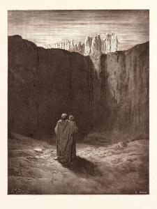 A Troop of Spirits in Purgatory by Gustave Dore