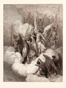 Abdiel and Satan by Gustave Dore