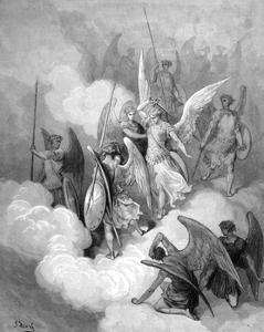 Abdiel Versus Satan by Gustave Doré