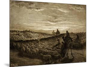 Abram on his journey into Canaan - Bible by Gustave Dore
