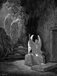 Angel Showing Mary Magdalene and 'The Other Mary' Christ's Empty Tomb, 1865-1866 by Gustave Doré
