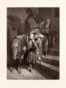 Arrival of the Good Samaritan at the Inn by Gustave Dore