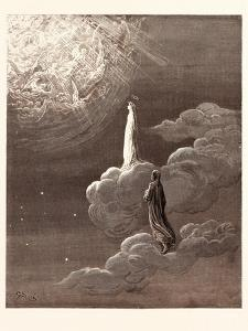 Beatrice and Dante Rising to the Fifth Heaven by Gustave Dore