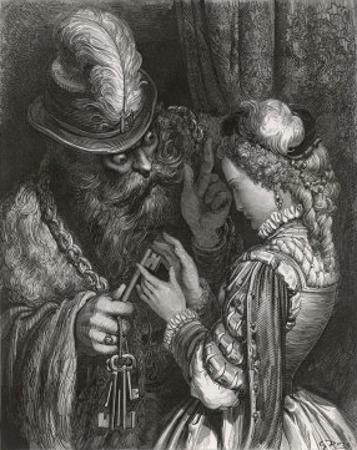 Bluebeard Warns Her About the Key to the Room She is Forbidden to Enter