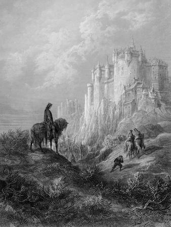 Camelot, Illustration from 'Idylls of the King' by Alfred Tennyson (Litho)