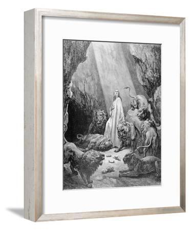 Daniel in the Den of Lions, Engraved by Antoine Alphee Piaud, C.1868