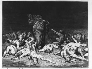 Dante and Virgil in Hell, Illustration from 'The Divine Comedy', 1861 (Engraving) by Gustave Doré