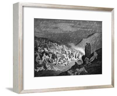 Dante and Virgil Looking Down Upon Souls in Torment in the Inferno, 1863
