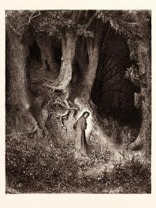 Dante in the Gloomy Wood by Gustave Dore