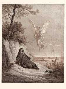 Elijah Nourished by an Angel by Gustave Dore