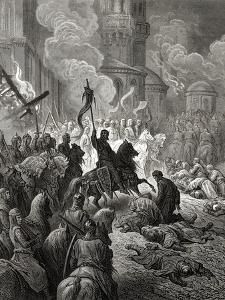 Entry of the Crusaders in Constantinople in 1204, Illustration from 'Bibliotheque Des Croisades'… by Gustave Doré