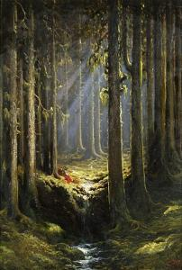 Figures by a Woodland Stream by Gustave Doré