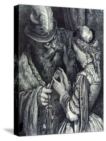 Illustration for 'Bluebeard' by Charles Perrault (1628-1703) 1893