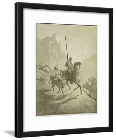 Illustration to the Book Don Quixote De La Mancha by M. De Cervantes, 1863