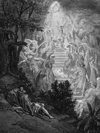Jacob's Dream of a Stairway Leading to Heaven with God at the Top, 1865-1866