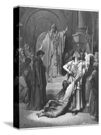 King Solomon Has to Decide Which of Two Women Claiming a Baby is the Rightful Mother