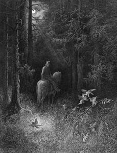 Knight and Fairies by Gustave Doré