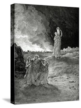 Lot. Book of Genesis, Bible. Episode of Destrucction of Sodom and Gomorrah. Lot Flees from Sodom.