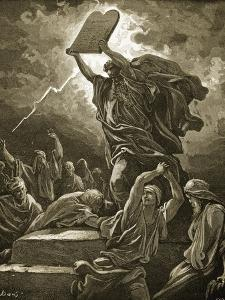 Moses Breaking the Tablets of the Law by Gustave Doré